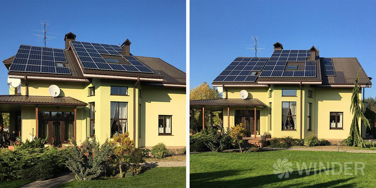 Сетевая солнечная система под зеленый тариф для физических лиц