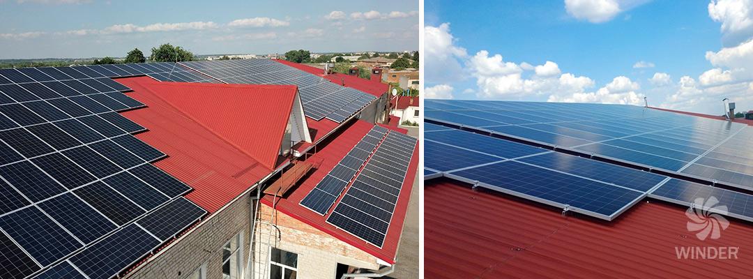 Сетевая солнечная система для предприятия