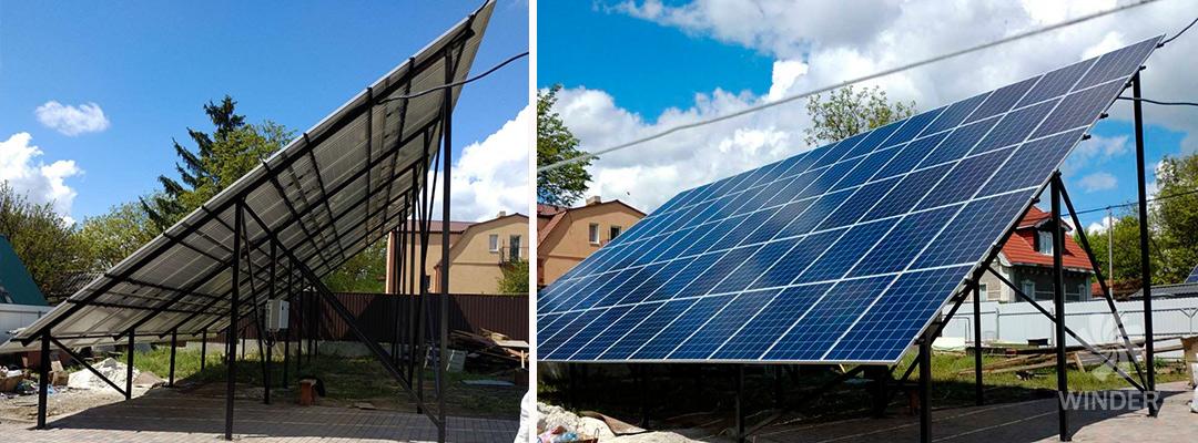 Сетевая солнечная система под зеленый тариф для физлиц