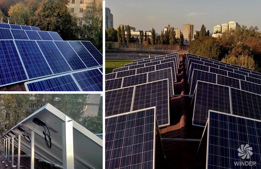 Сетевая солнечная система на базе 80 солнечных панелей Sunrise Solartech