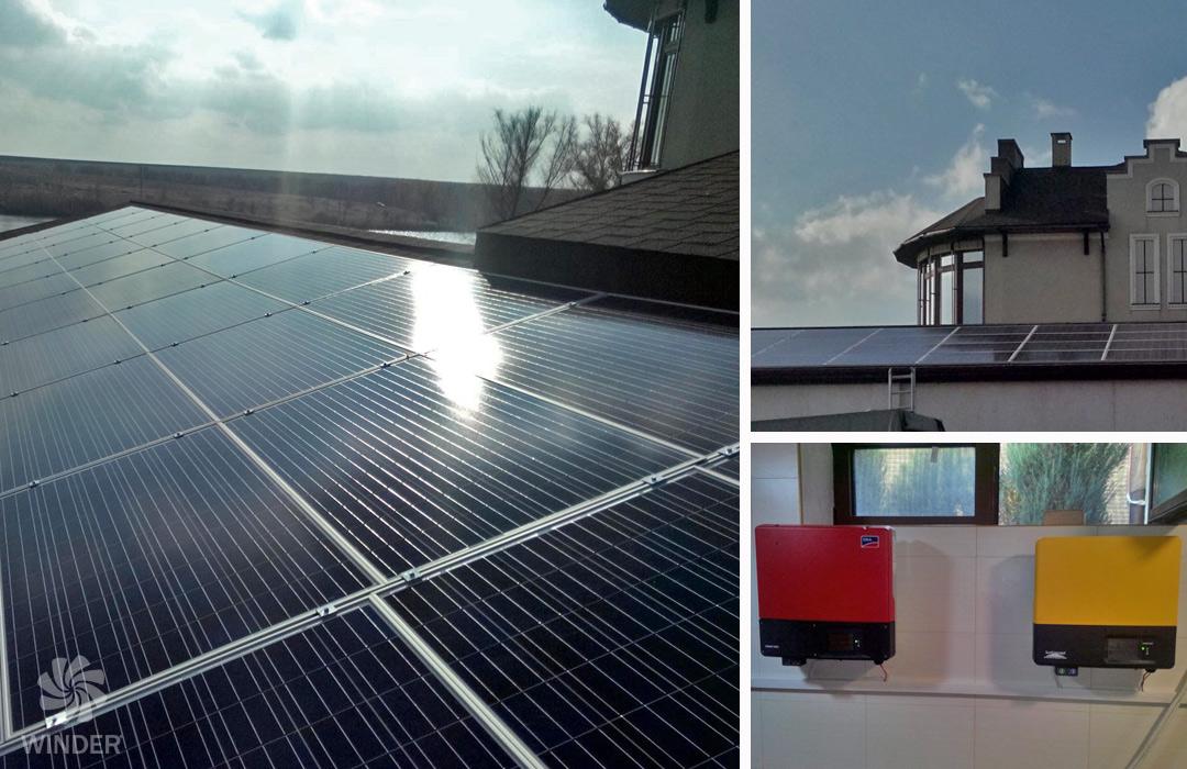 Сетевая солнечная система на базе 40 солнечных панелей Sunrise Solartech