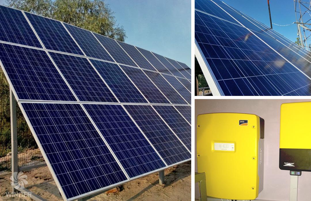Солнечная система на базе 40 солнечных панелей Sunrise Solartech