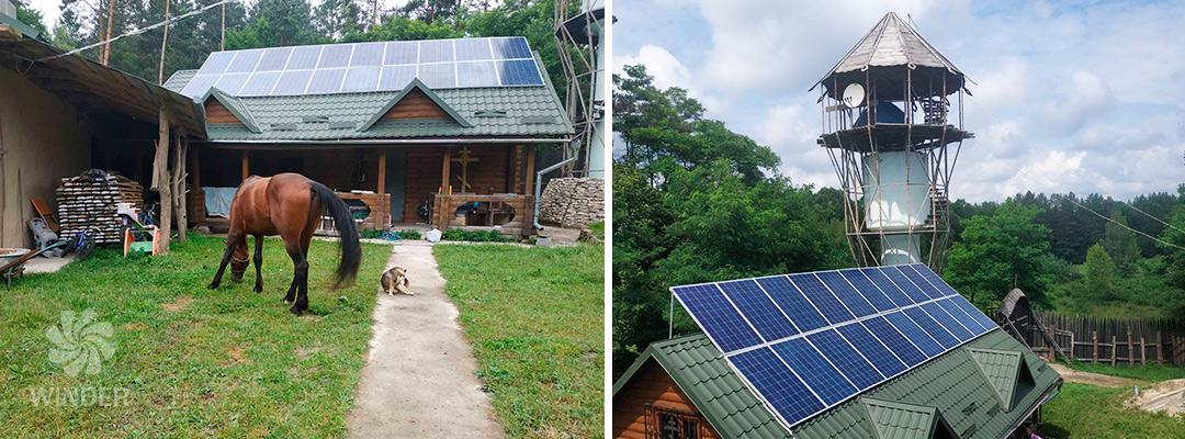 Автономная система с солнечными панелями