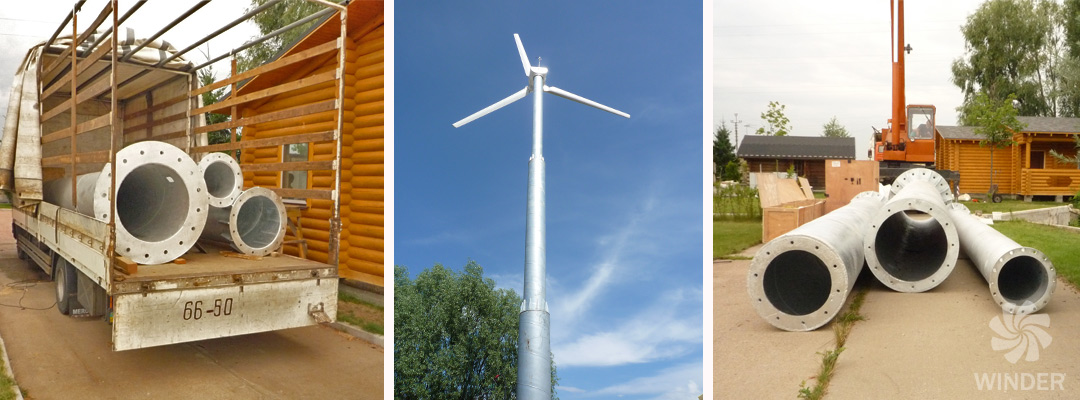 Ветрогенератор WINDER W10 20 кВт Конча-Заспа