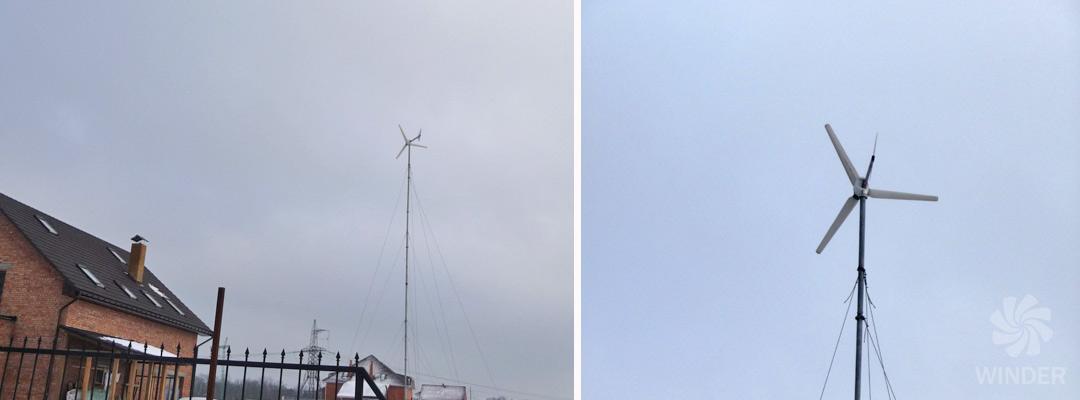 Ветрогенератор WINDER W3 500Вт