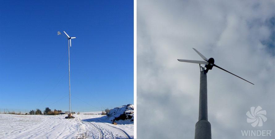 wind turbine 5kW fortis montana photo